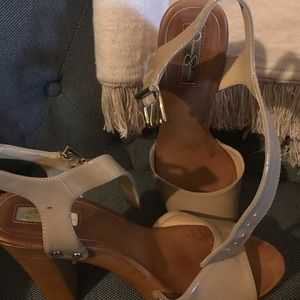 Tan and brown Jessica Simpson heels